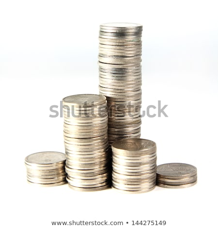 silver stacked coins stock photo © arenacreative