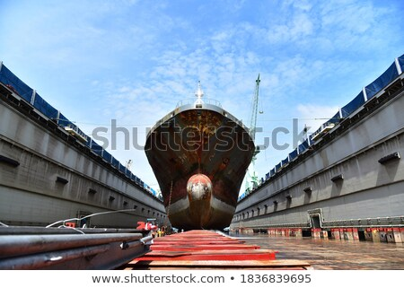 Old Cargo Ship under Maintenance  Stock photo © tab62