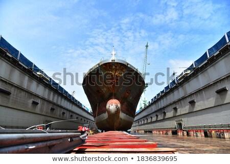 китайский · грузовое · судно · гравий · распределение · промышленности · каменные - Сток-фото © tab62