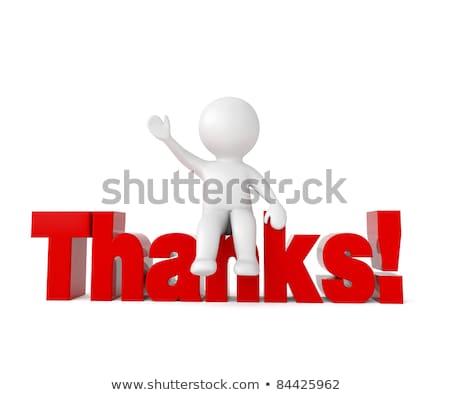 3d · pessoas · palavra · obrigado · branco · abstrato · assinar - foto stock © Quka