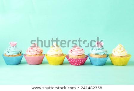 fronteira · padrão · sem · costura · alimentos · doces · textura - foto stock © adamson