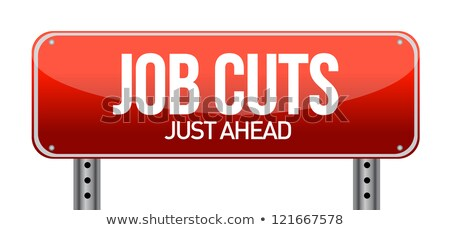 Job Cuts Highway Sign Photo stock © alexmillos