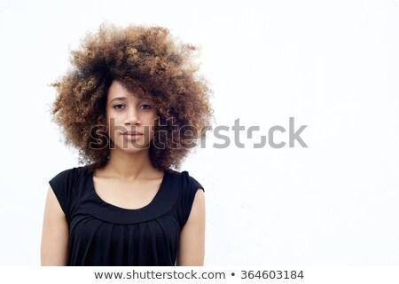 Grave mujer pie blanco mano feliz Foto stock © wavebreak_media
