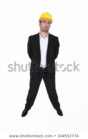 Arrogant architect stood with his hands behind his back Stock photo © photography33