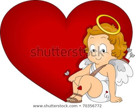 aanbiddelijk · hart · tekening · kunst · cute · cartoon - stockfoto © indiwarm