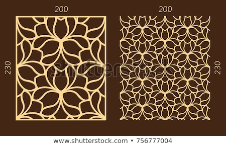 Seamless floral swirls plywood pattern Stock photo © ratselmeister