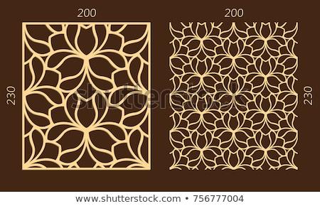 Seamless floral swirls plywood pattern Stock photo © ratselmeister