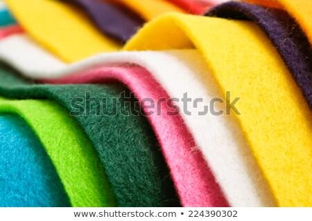 Felt Fabric Texture - Lime Stock photo © eldadcarin