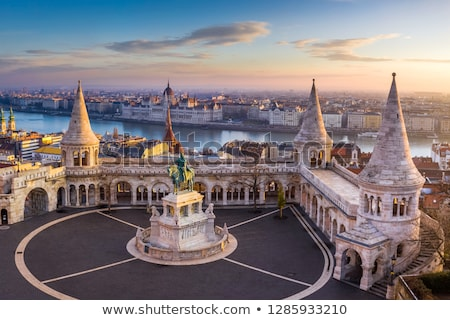 statue of king stephen i of hungary fisherman bastion budapest stock photo © bertl123