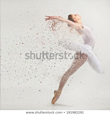エレガントな 女性 ダンス 位置 白 ストックフォト © wavebreak_media