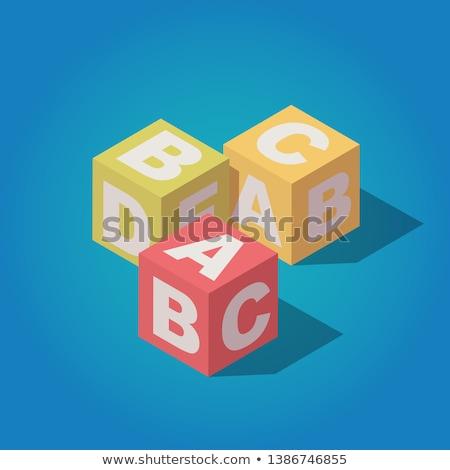 cartas · color · cubos · 3D · colorido · ninos - foto stock © deyangeorgiev