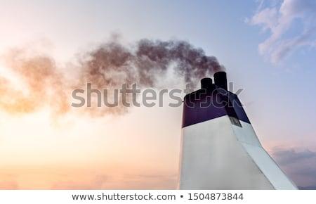 industriële · zwarte · giftig · rook · energiecentrale - stockfoto © rufous