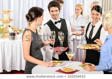 Waiter offering champagne Stock photo © photography33
