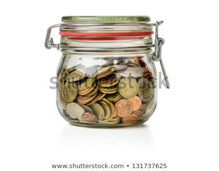 Canning Jar Filled With Coins Photo stock © Zerbor
