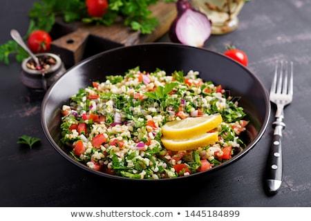 пластина · типичный · арабских · Салат · продовольствие - Сток-фото © m-studio