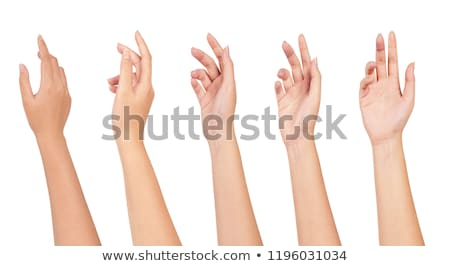 mão · fora · adulto · céu · ajudar · nuvem - foto stock © lighthunter