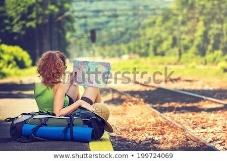 Train travel around the world vector illustration ...