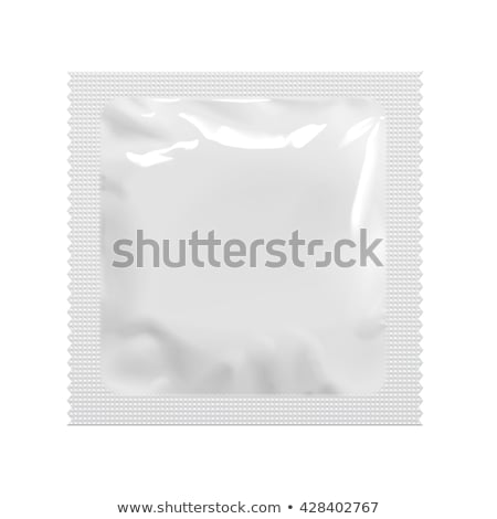 Preservativo branco macro vermelho isolado Foto stock © ajt