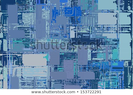 abstract stacked blue composition with torn paper edges Stock photo © Melvin07