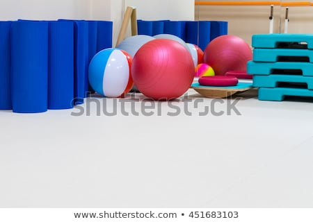 Stationary Exercise Equipment at a Professional Gym Stock photo © pixelsnap
