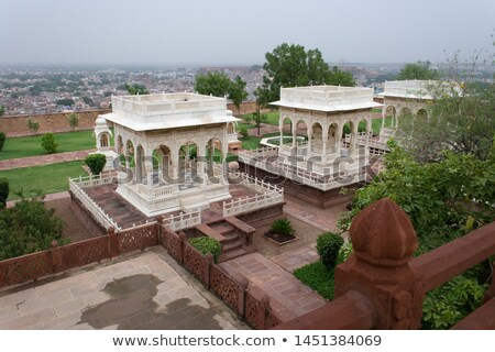 pavilions in jaswant thada mausoleum   india stock photo © mikko