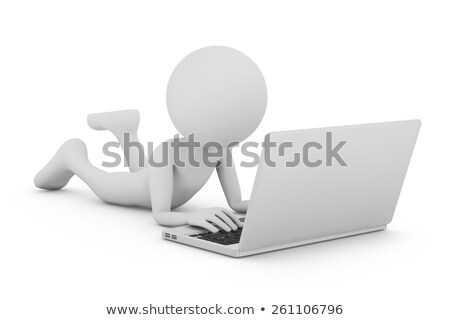 3D guy with keyboard and www on the background Stock photo © Kirill_M