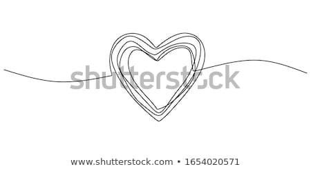 piros · zsírkréta · szív · szeretet · festett · szív · alak - stock fotó © pxhidalgo