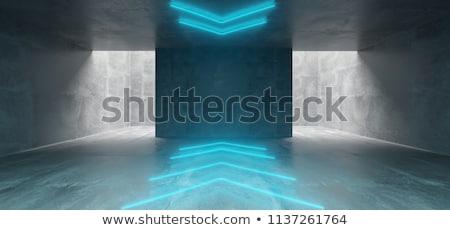 Beton szoba nyíl fal fehér nyíl jelzés Stock fotó © stevanovicigor
