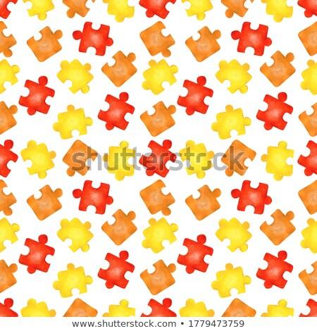 Back to School on Orange Puzzle. Stock photo © tashatuvango