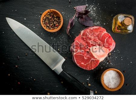 bloody and knife on the cutting board stock photo © inxti
