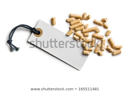 wooden pellets with price tag stock photo © jirkaejc
