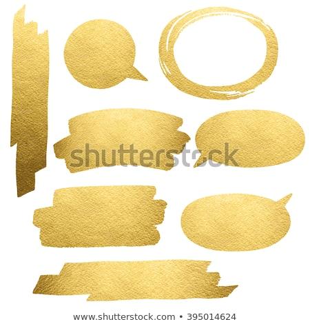 Parlak altın ayarlamak vektör web Stok fotoğraf © burakowski