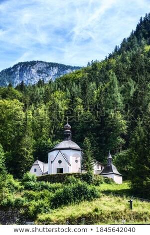 graveyard in hallstatt upper austria austria stock photo © phbcz