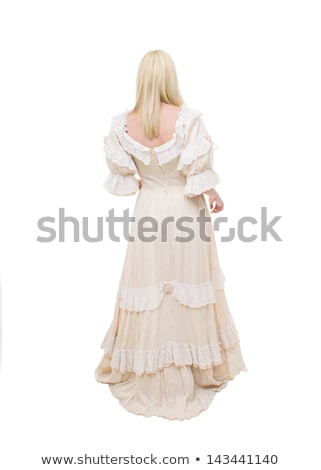 Woman dressed at old fashioned dress Stock photo © vetdoctor