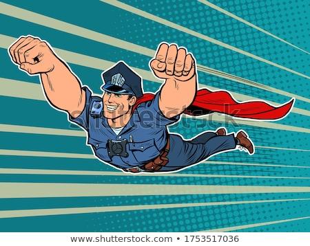 Komische politieagent held illustratie burgerlijk Stockfoto © benchart