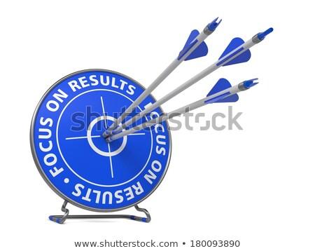 Skupić wyniki slogan cel trzy Zdjęcia stock © tashatuvango