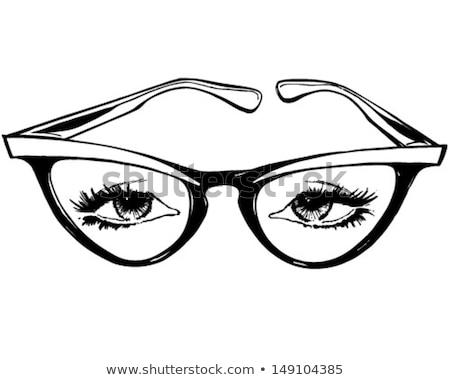 Vintage gato ojo gafas damas vidrio Foto stock © shawlinmohd