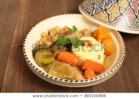 couscous with meat and vegetables Stock photo © M-studio