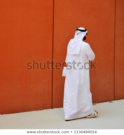 walking arab man isolated on white stock photo © elnur