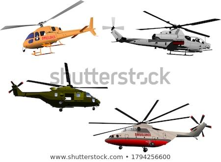 Helikopter levegő kék ég égbolt kék sebesség Stock fotó © meinzahn