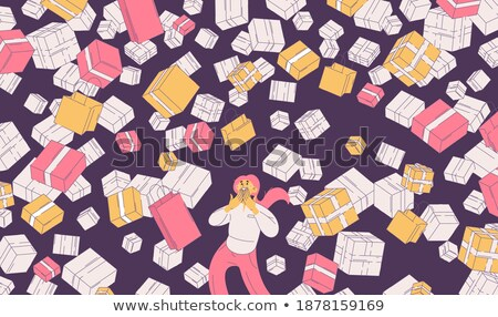 Young woman buying plenty of bags Stock photo © konradbak