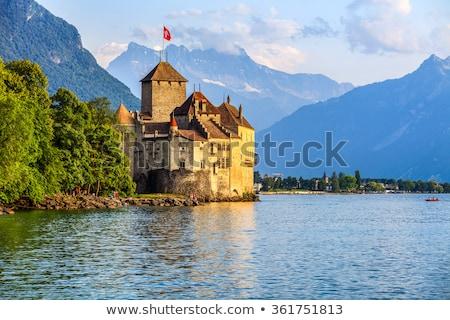 城 湖 水 建物 風景 ストックフォト © lightpoet