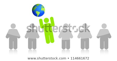 Row Of People Jumping To The Earth Illustration Design Photo stock © alexmillos