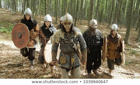two medieval knights fighting stock photo © nejron
