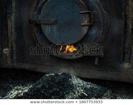 Open oven locomotief brand oven stoomlocomotief Stockfoto © Hofmeester
