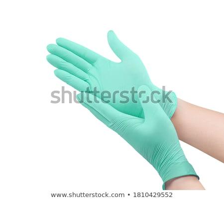 Yeşil eldiven beyaz Stok fotoğraf © devon