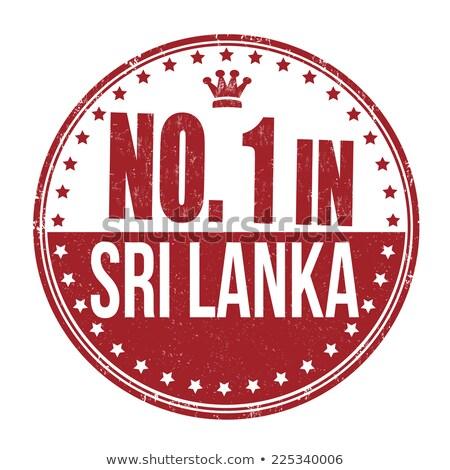 Sri Lanka piros bélyeg felirat pecsét izolált Stock fotó © tashatuvango
