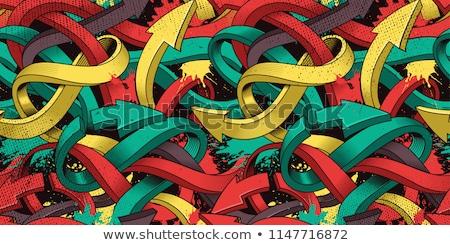 Graffiti vibrante dettaglio arte muro Foto d'archivio © stevanovicigor