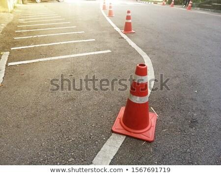 Estrada manutenção carro sinalizar desvio cidade Foto stock © smuki