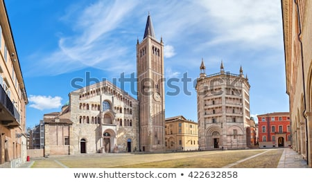 Baptistery and Cathedral in Parma Stock photo © Hofmeester